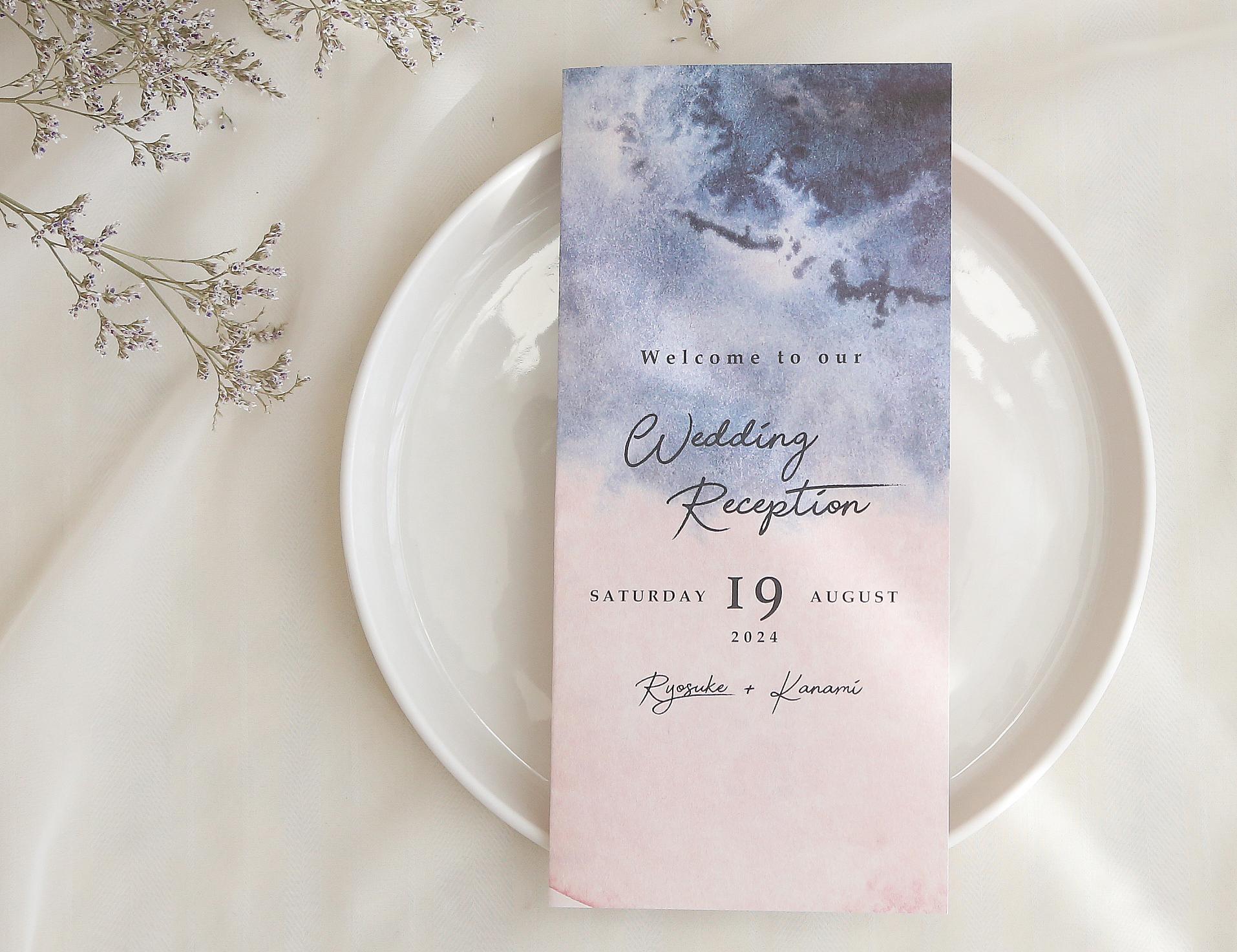 席次表 169円~/部【ブラッシュ&ネイビー】│ウェディング 結婚式 プロフィールブック