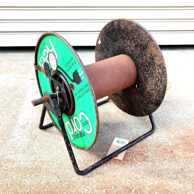 品番1591 ヴィンテージ コードリール Cord Reel 電工ドラム グリーン VILLAGE BLACKSMITH