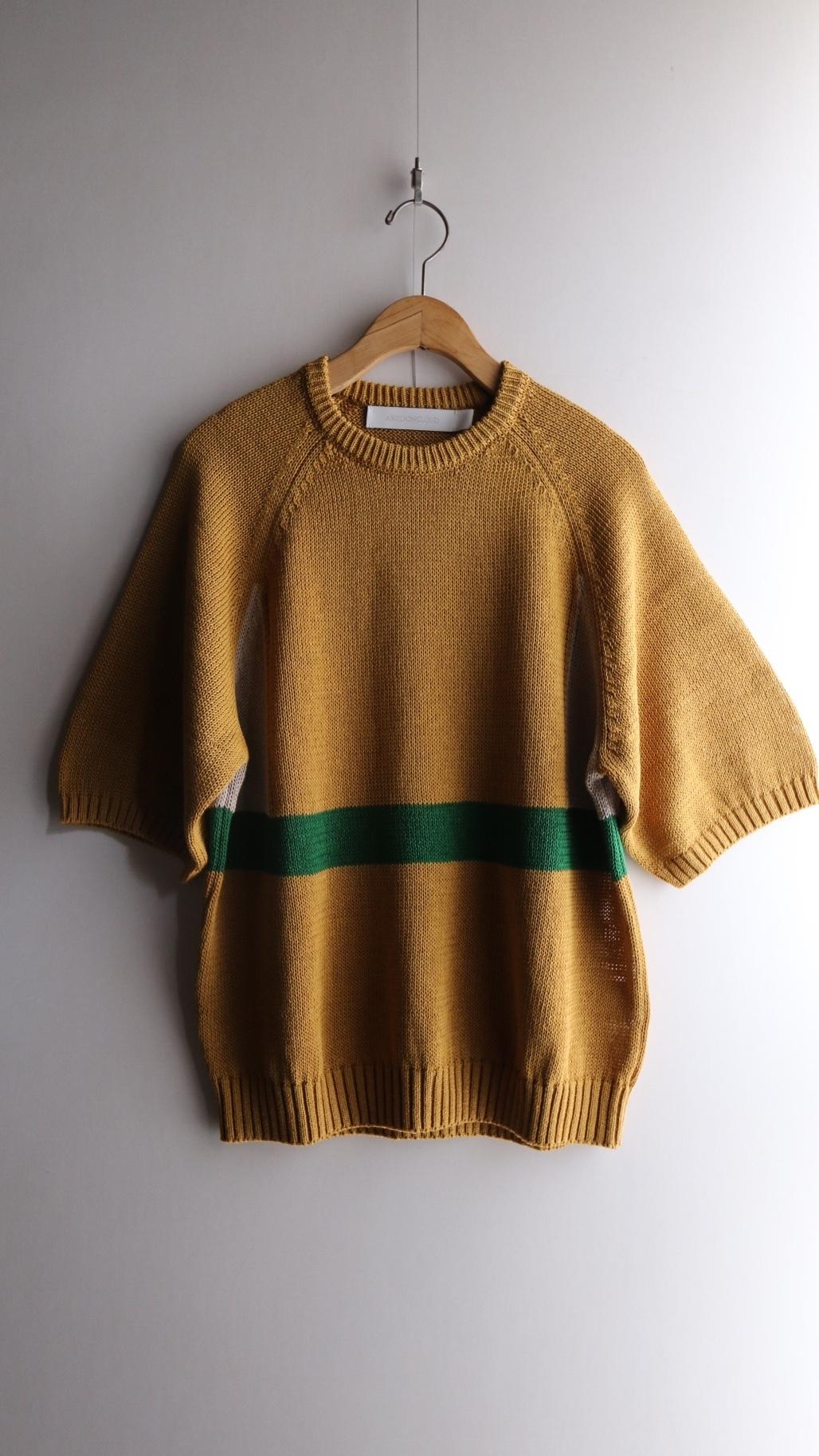 ASEEDONCLOUD/アシードンクラウド Knit T-shirt / ニットTシャツ #201803