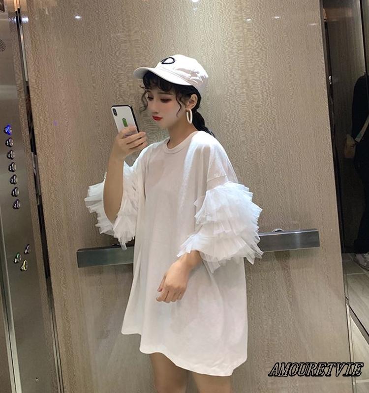 2019 夏 レディース 新作 トップス シャツ ブラウス Tシャツ メッシュ 白 黒 ホワイト ブラック オルチャン 韓国