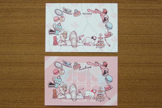 お菓子とバレリーナ ポストカード