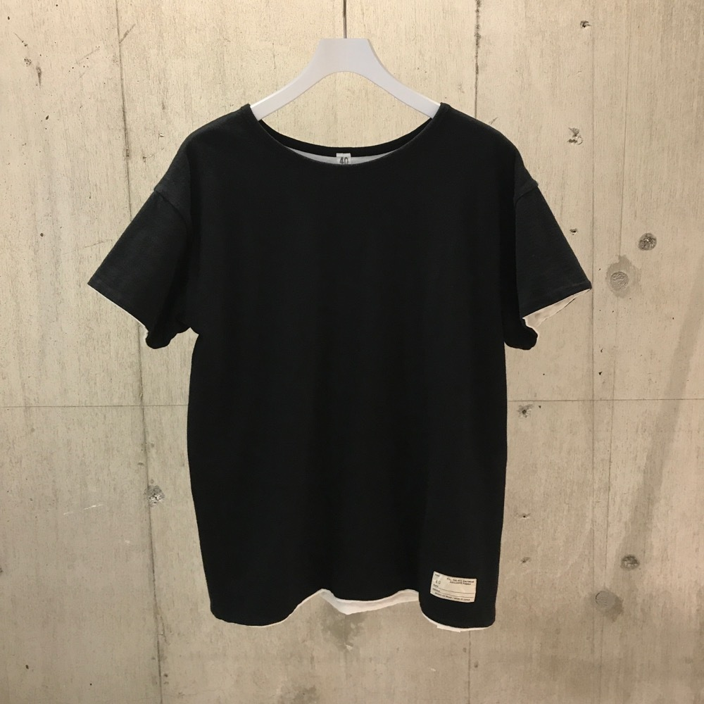 FILL THE BILL WASTE COTTON REVERSIBLE T BLACK×WHITE