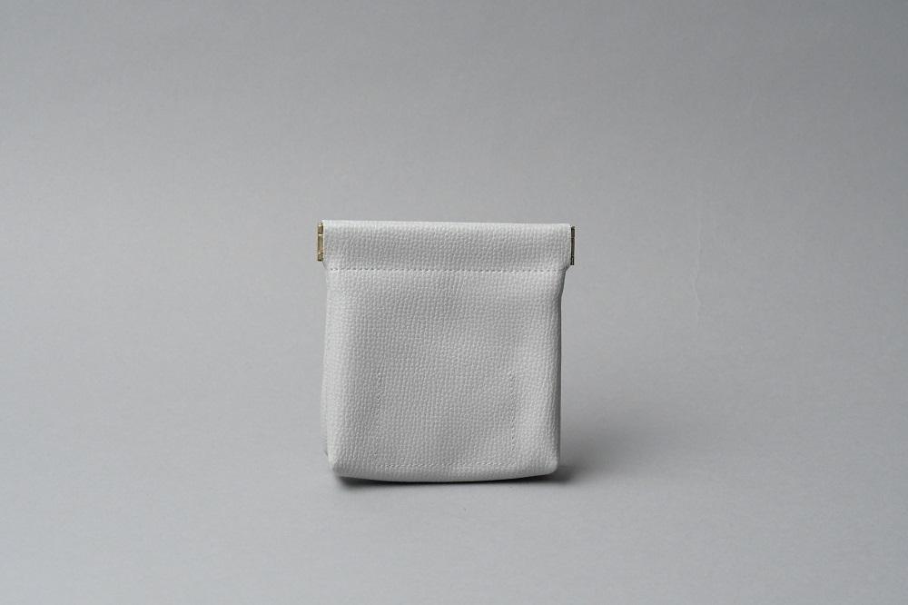 ワンタッチ・コインケース ■ライトグレー・クリアホワイト■ - 画像2