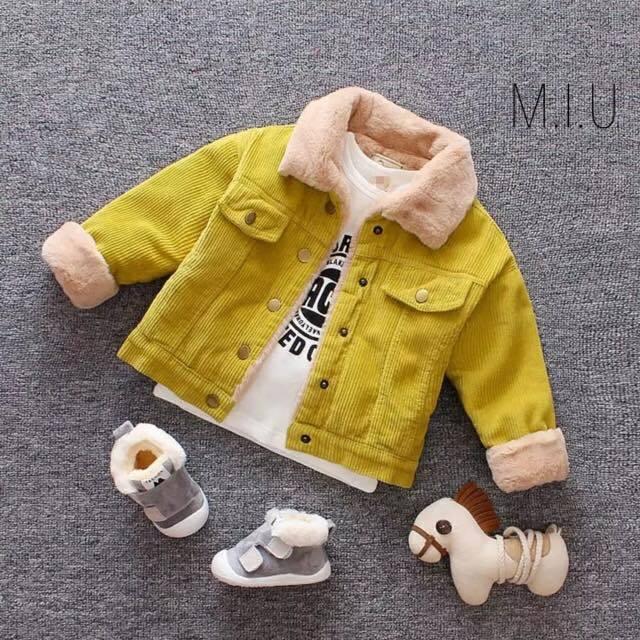 コーデュロイモコモコジャケット #MIU625