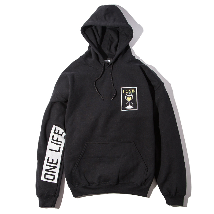 Deviluse(デビルユース) | Love Life Pullover Hooded(Black)