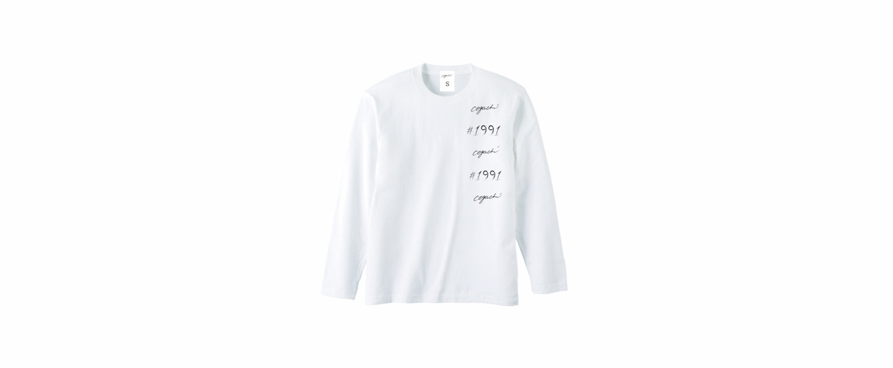 1991 coguchi logo long T-shirts (WH)