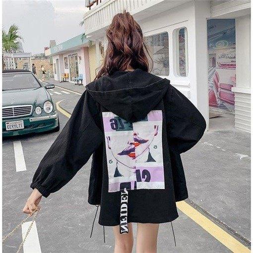 【outer】 プリントファッション合わせやすいジャケット26656401