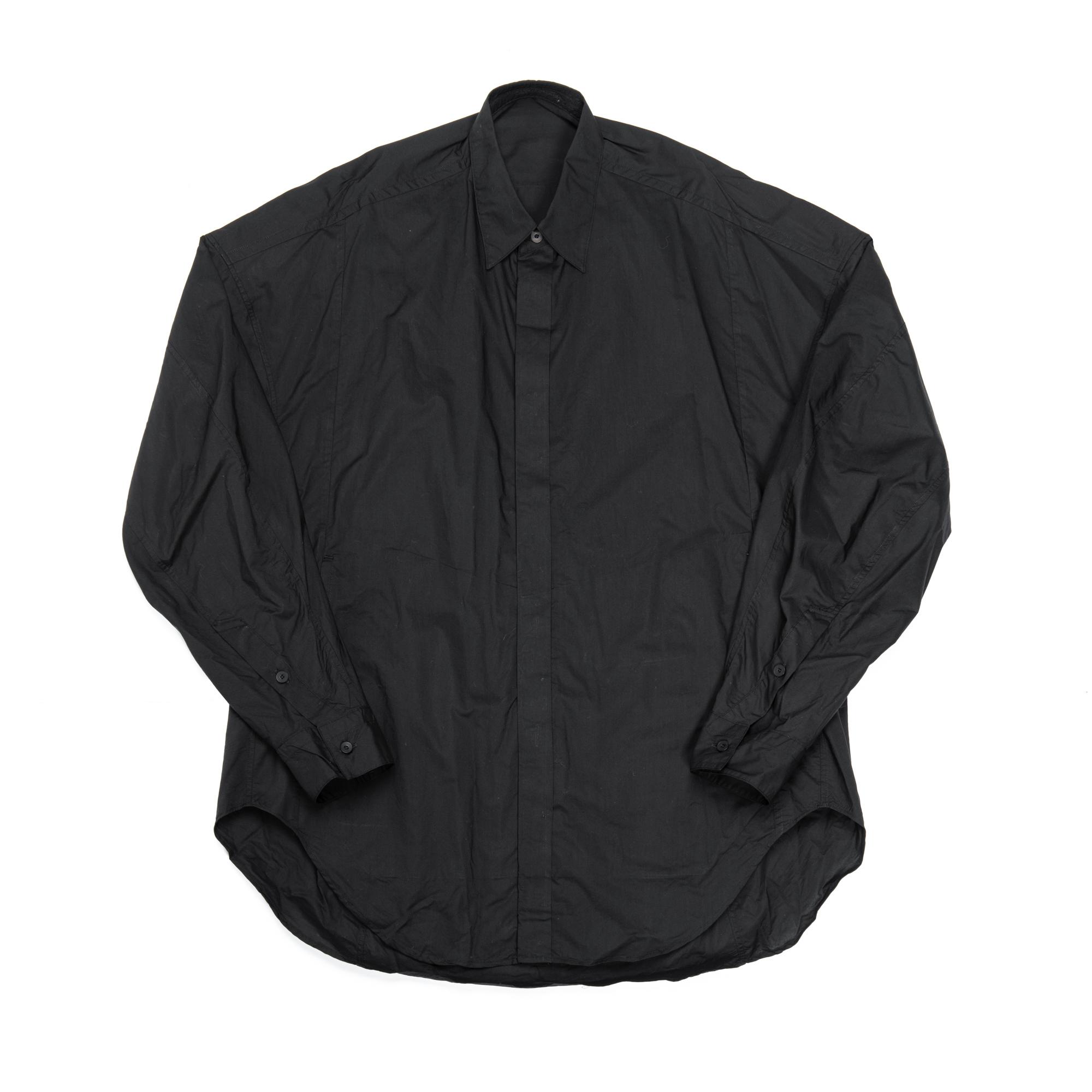 657SHM2-BLACK / ドロップショルダーシャツ