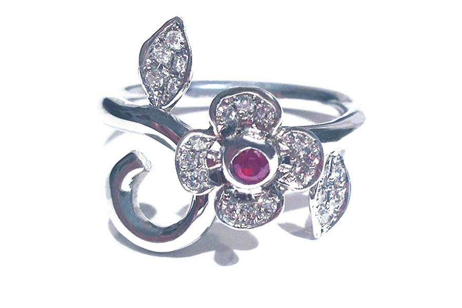 MireyHIROKI 一輪の花のリング(DIAMOND) ★受注製作品