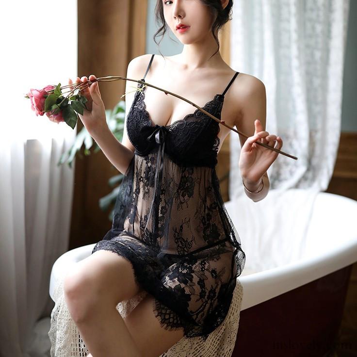【ルームウェア・パジャマ】美人度アップセクシー透け感リボンメッシュ刺繍セクシー&ランジェリー25408745