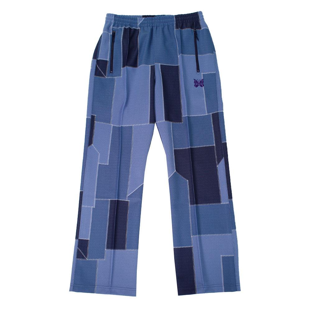 NEEDLES Patchwork Track Pants Blue