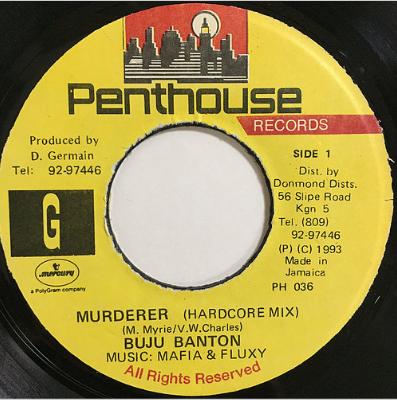 Buju Banton(ブジュバントン) - Murderer【7'】