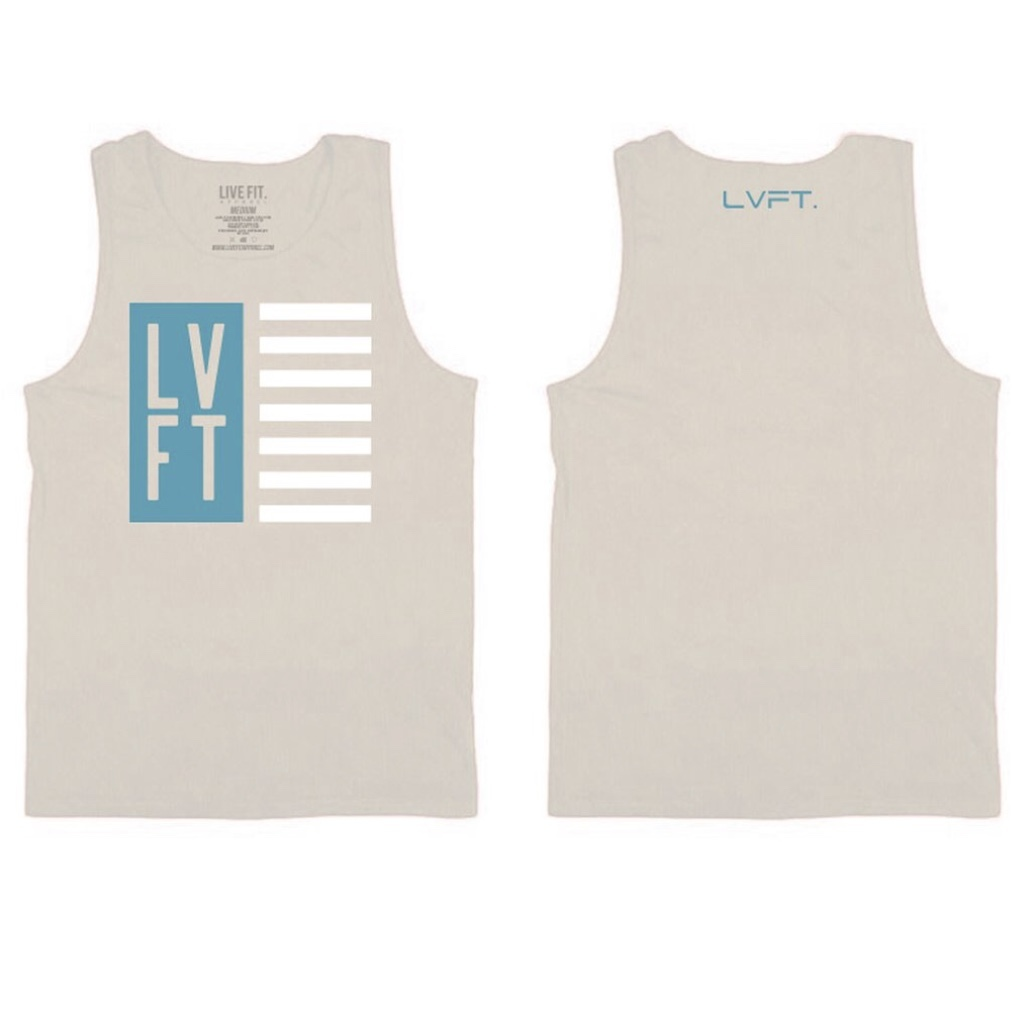 LIVE FIT Nation Mens Tank - Putty