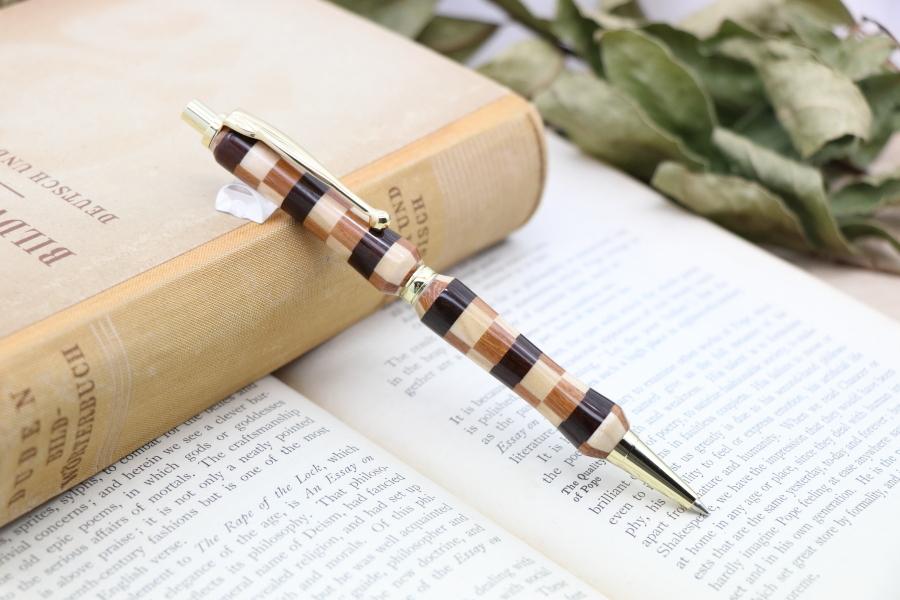 ★O様お取り置き中★「寄せ木・石畳 FLP」Viriditas手作りシャープペンシル0.7mm芯