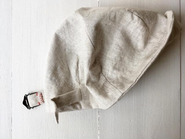 """""""hand-sewn&one-washd"""" LOKACAP LINEN GRAYBEIGE【M】c/#stich WH"""
