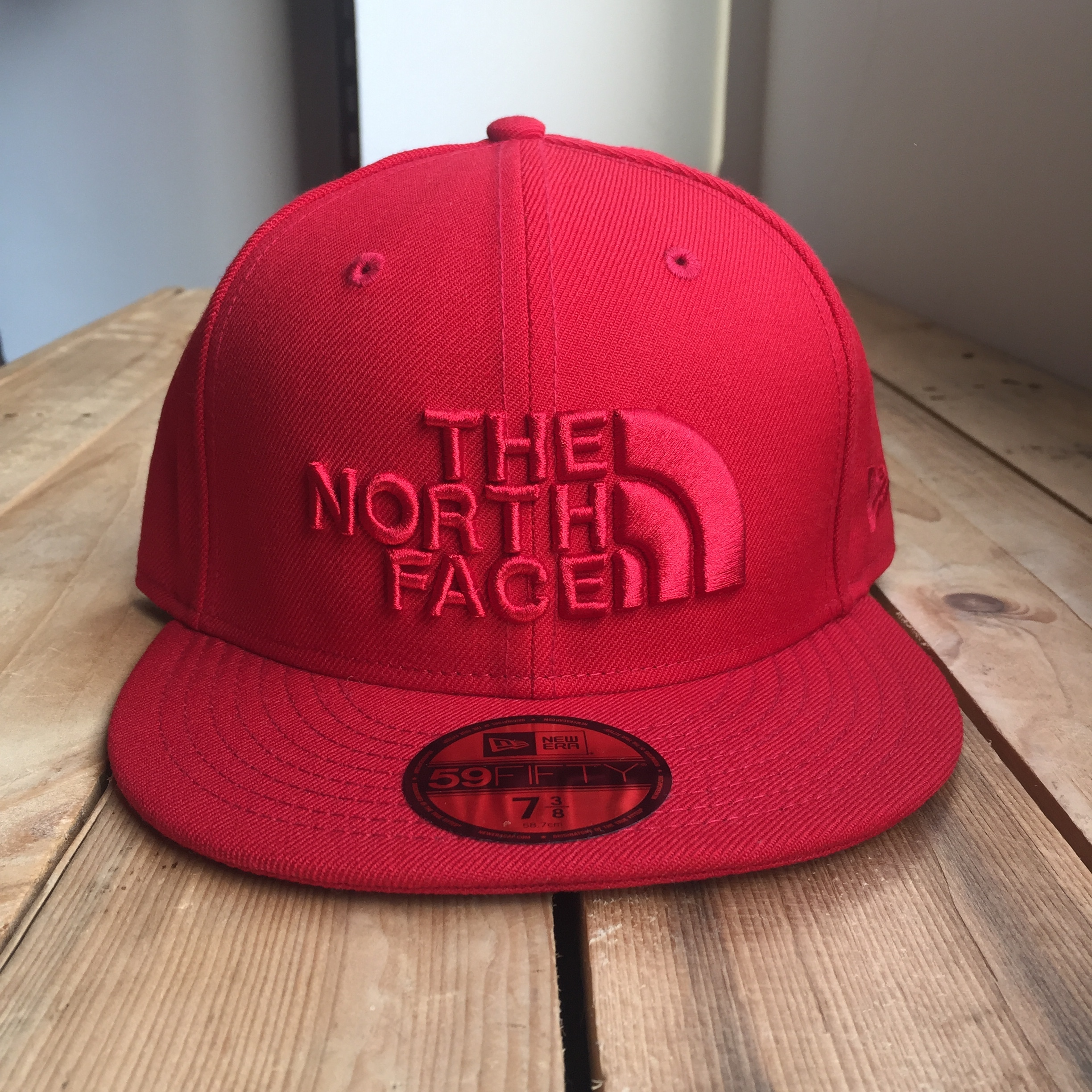 USストア限定 The North Face x New Era Half Dome Logo Cap Red/Red