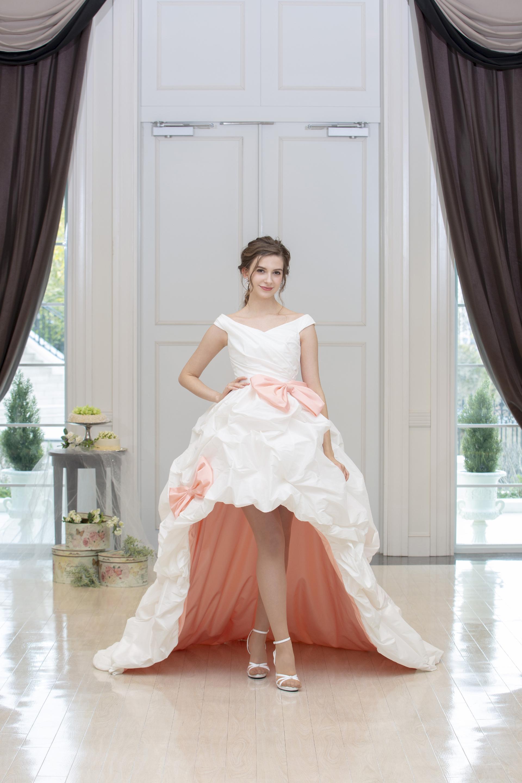 【販売】ピンクのリボンドレス