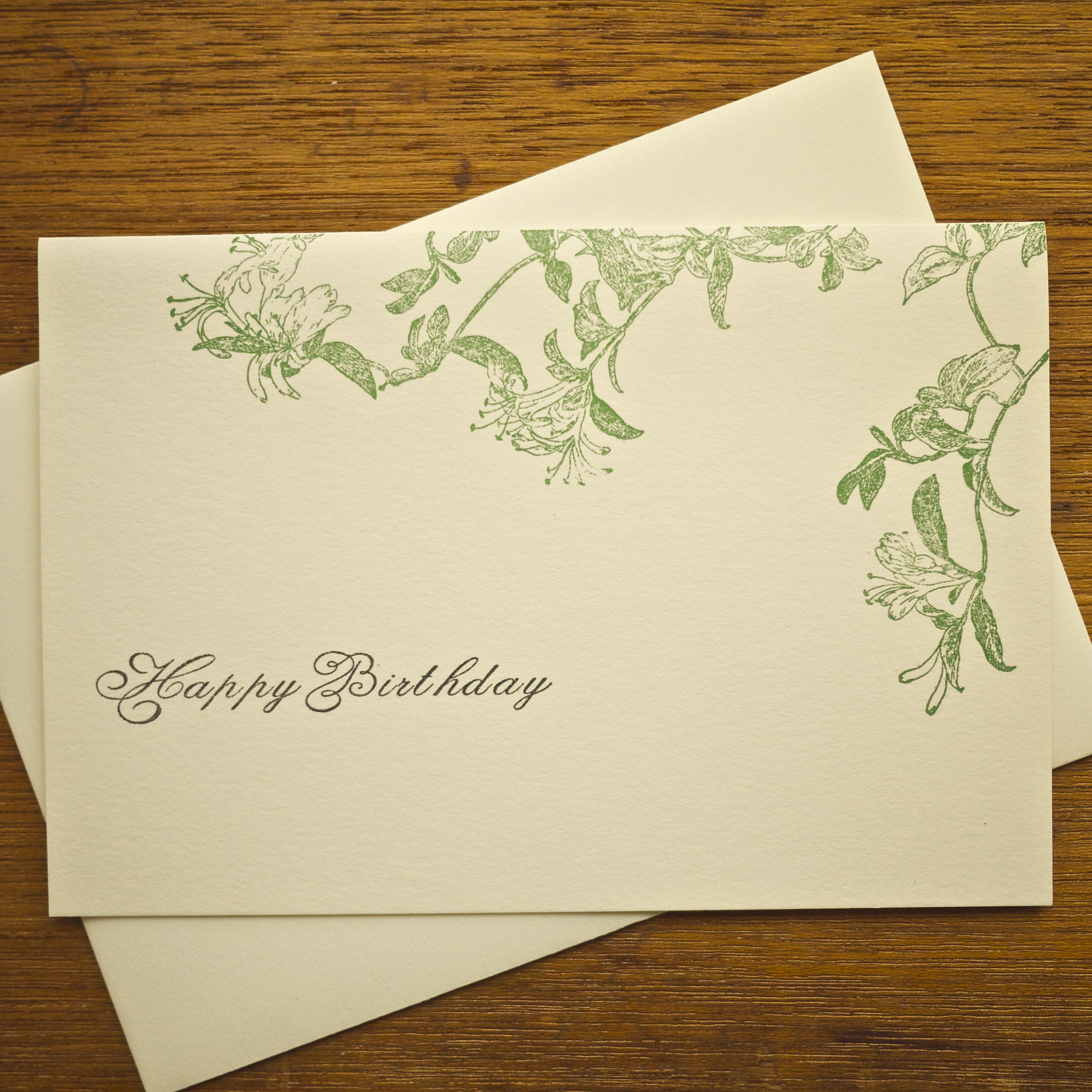 birthday card ハニーサックル(スイカズラ)148×105mm