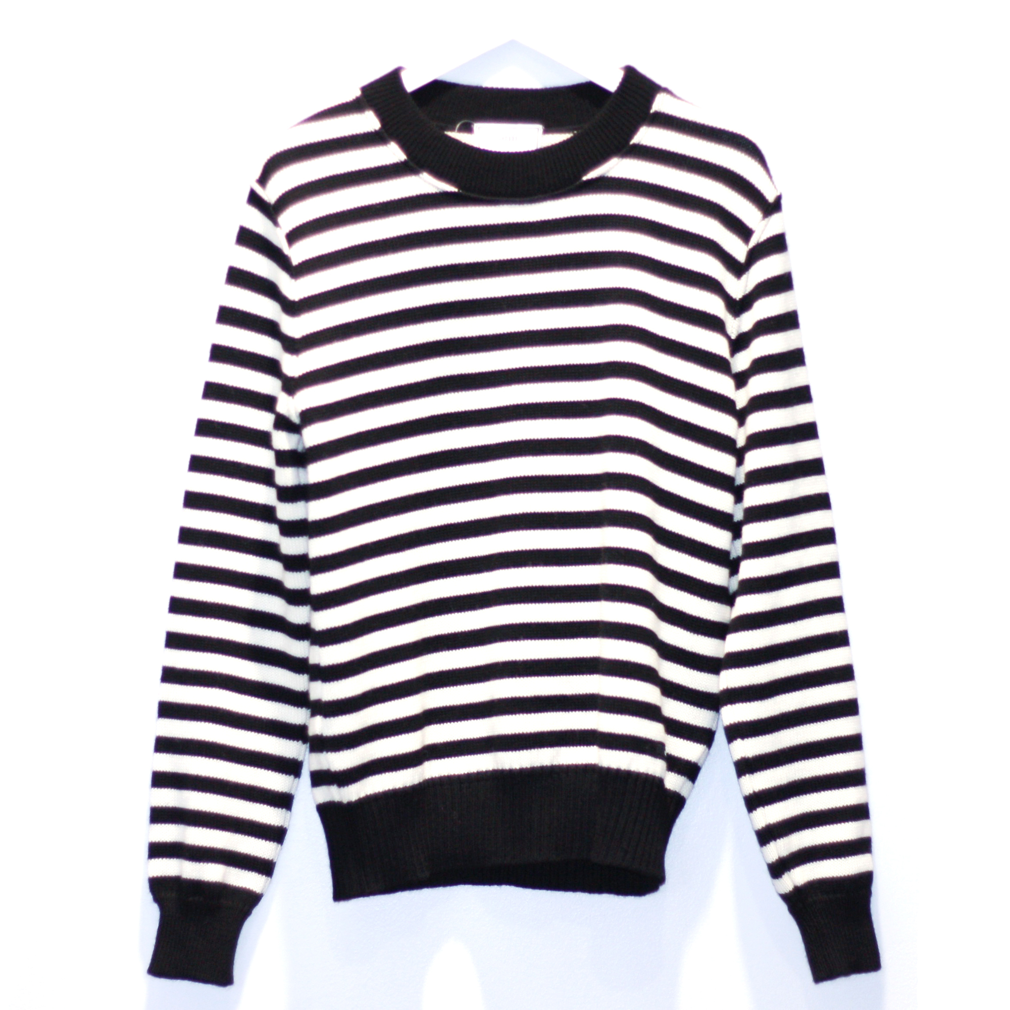【1/8再値下げ】AMI ALEXANDRE MATTUSSI Knit Sweater WHITE × BLACK