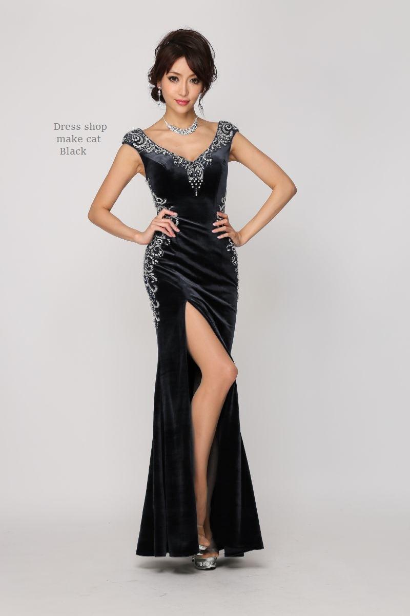 ベロアロングドレス ¥35,640-(税込) [JEANMACLEAN] JM-167909