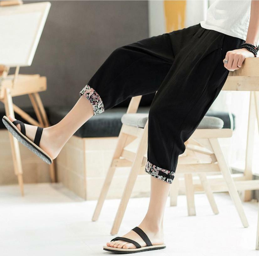 クロップドパンツ 七分丈パンツ メンズ 七分丈ズボン イージーパンツ 涼しいズボン メンズファッション