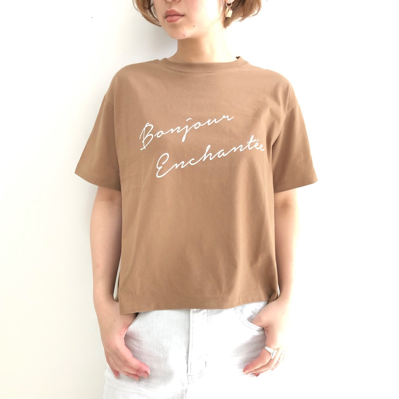【Siro de labonte 】プリントTeeシャツ