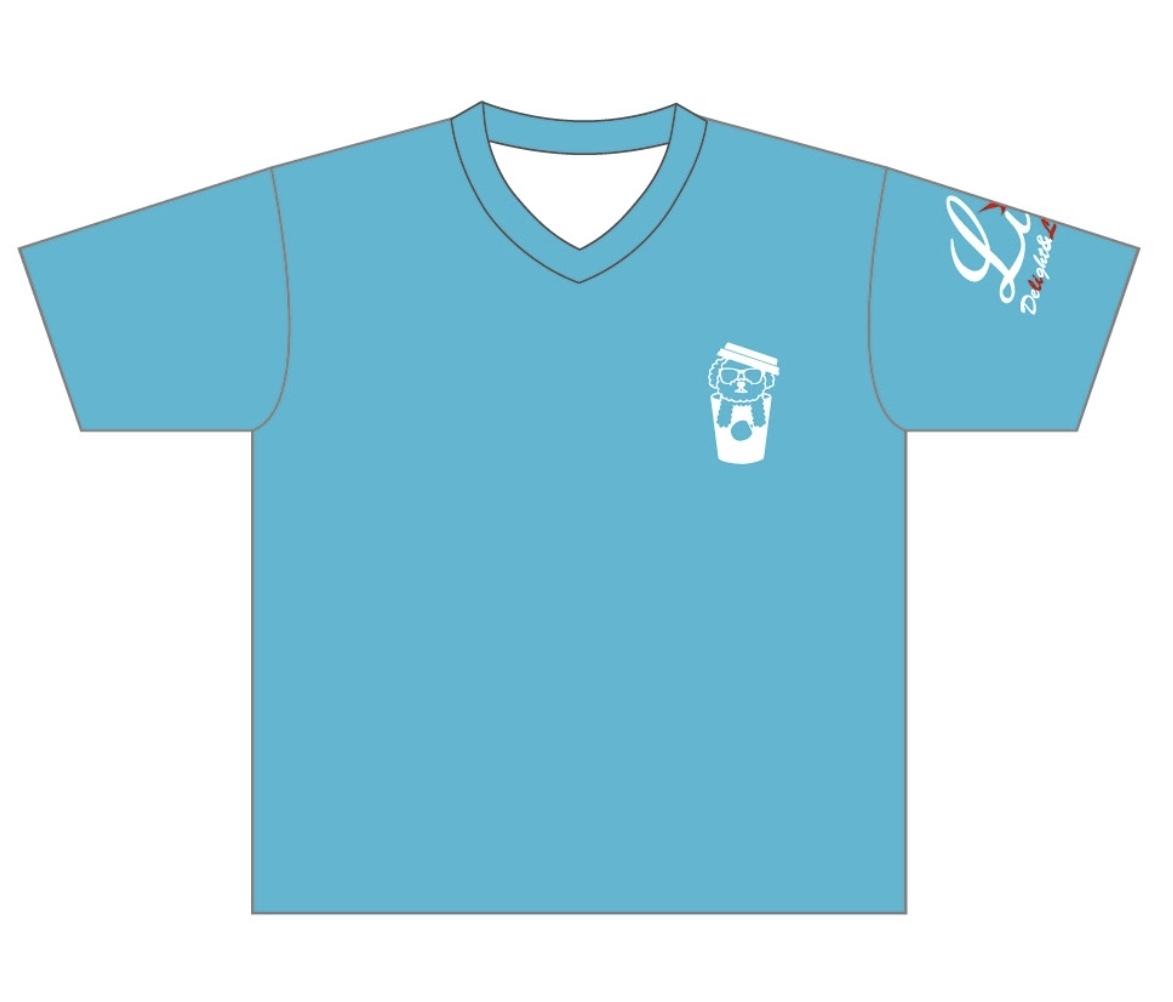 LiliオリジナルTシャツ(もぷブルー)