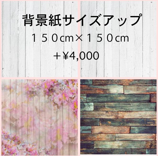 背景紙サイズアップ料金150cm×150cm
