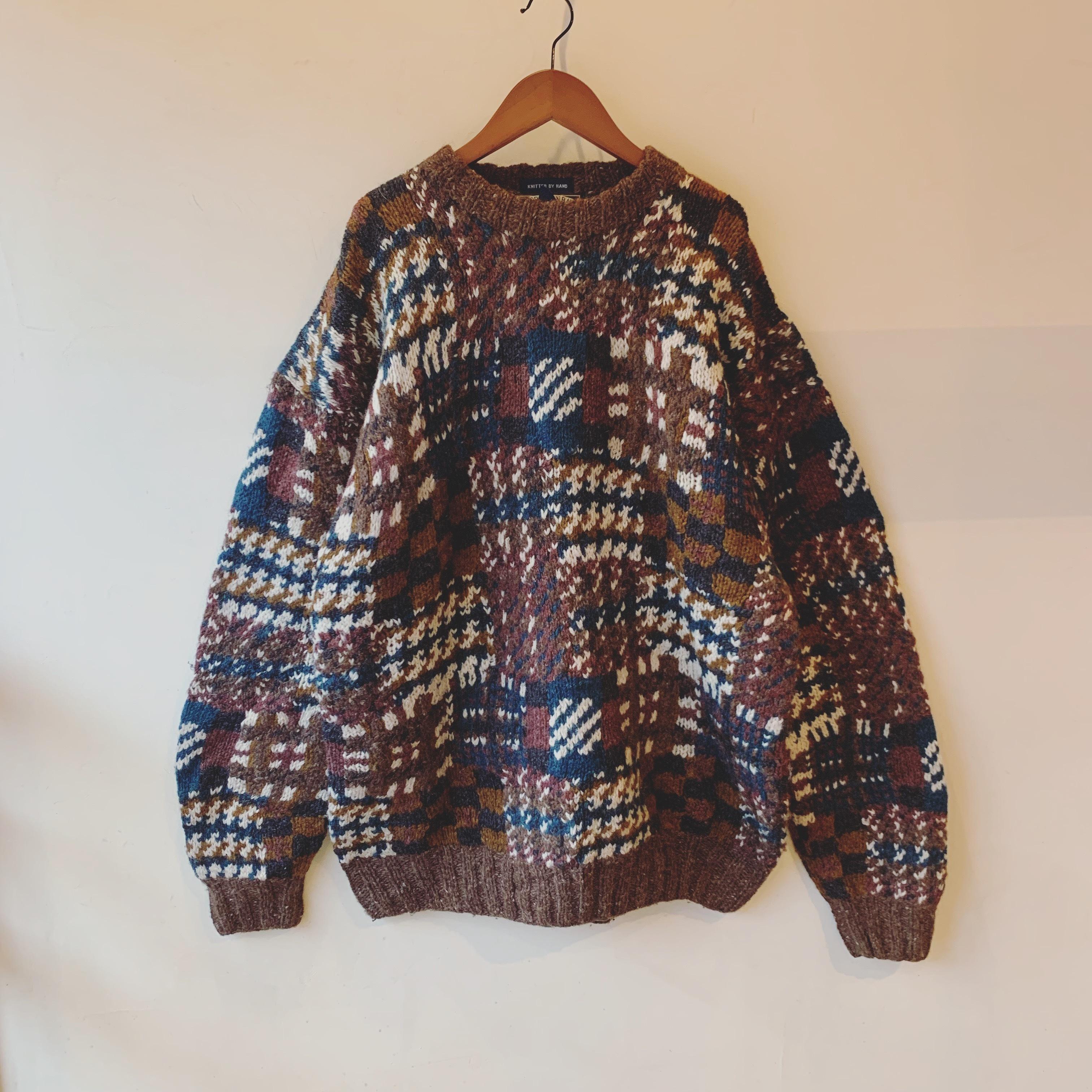 vintage Shetland wool knit sweater