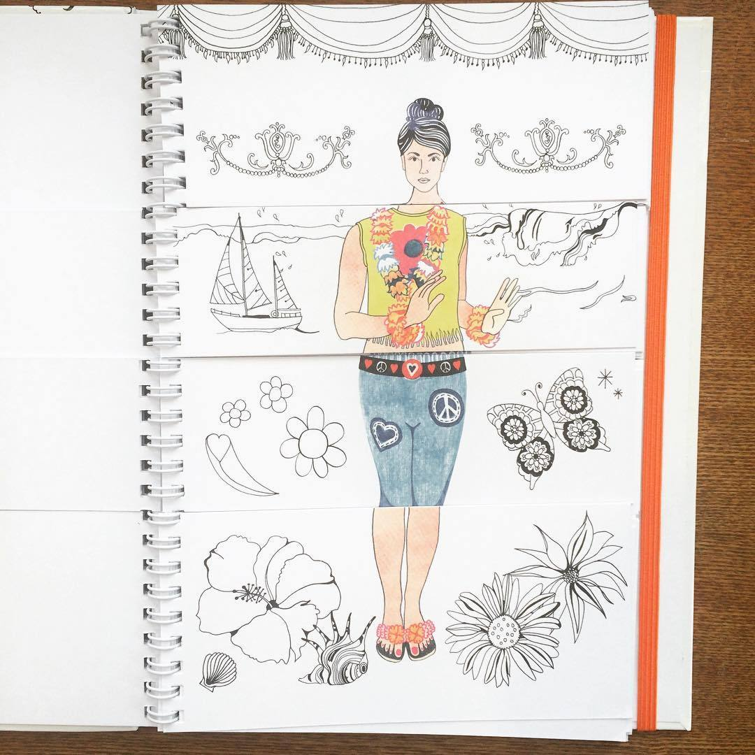 ファッション絵本「Doodleflip Dress-up/Hennie Haworth」 - 画像2