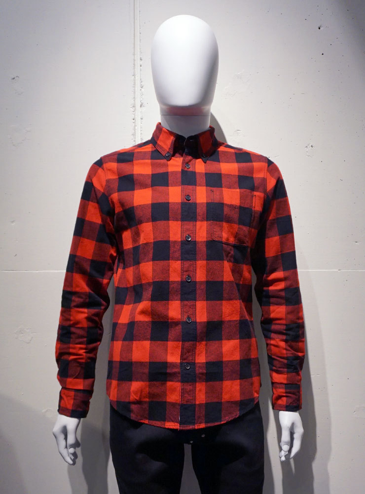 Deus ex Machina ALBIE B.D CHECK Shirts レッド