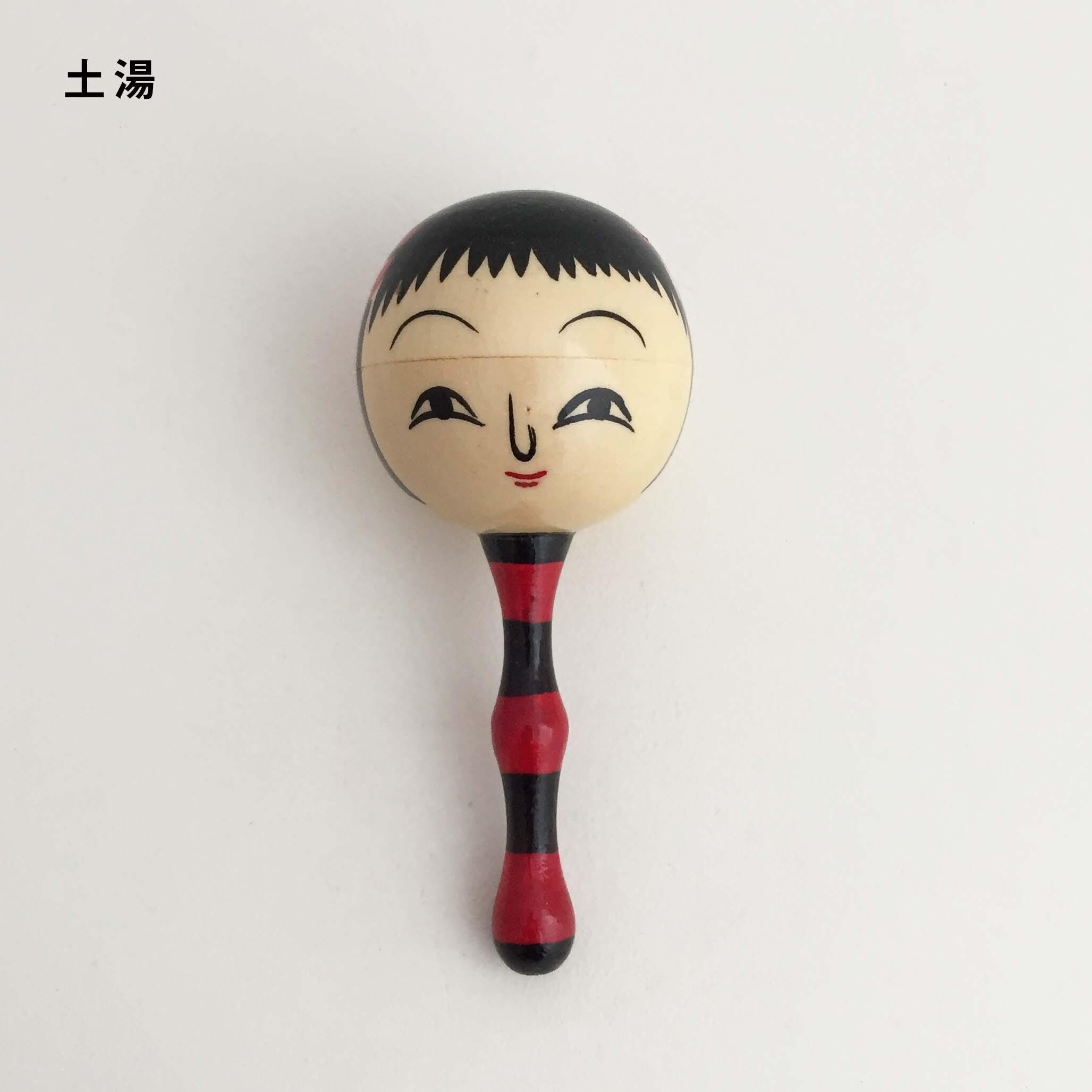 こけし顔ガラガラ(鯖湖・土湯・南部・弥治郎系こけし)