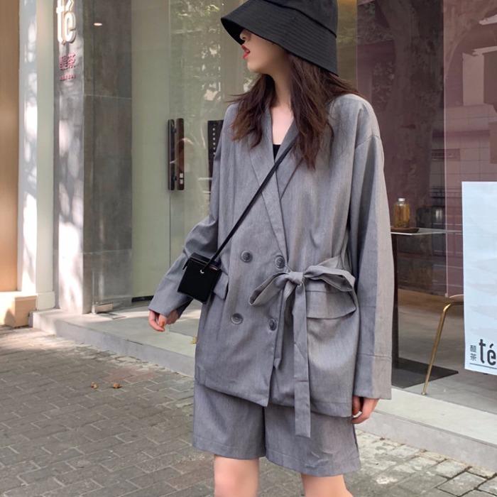 【送料無料】おしゃれなセットアップ ♡ 2点セット きれいめ テーラード ジャケット × ショートパンツ スーツ