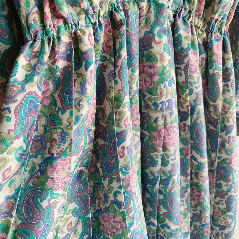 vintage  colorful paisley design onepiece