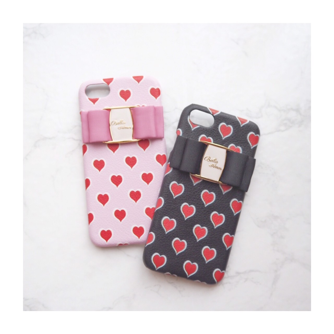 iPhone Heart leather case