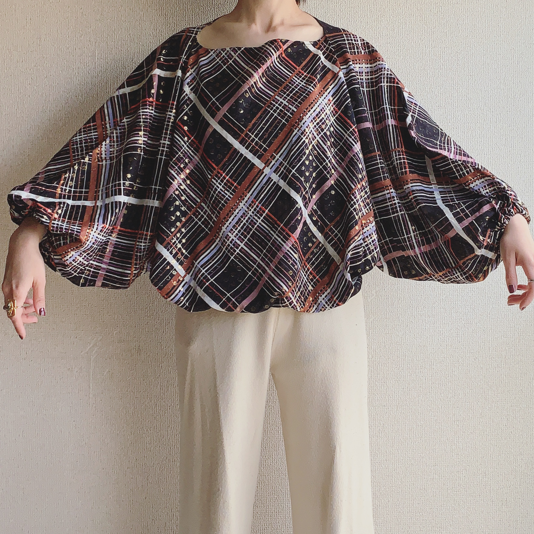 vintage sheer dolman tops