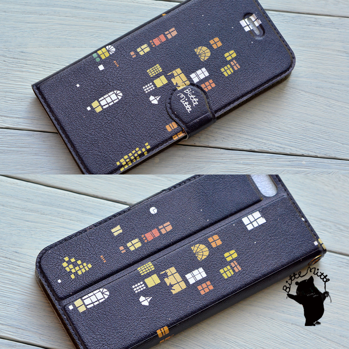 【訳あり】iphone6s ケース 手帳型 アイフォン6sケース 手帳型 おしゃれ iphone6s ケース 手帳 おしゃれ 女子 マグネット 夜のおはなし/Bitte Mitte!【bm-iph6t-08024-B2】