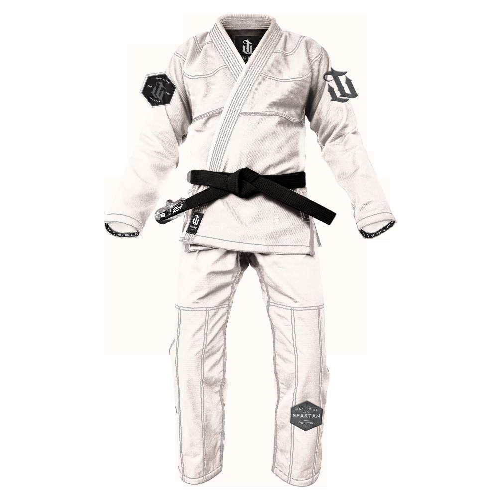 WAR TRIBE GEAR  Spartan Gi ホワイト|ブラジリアン柔術衣(柔術着)
