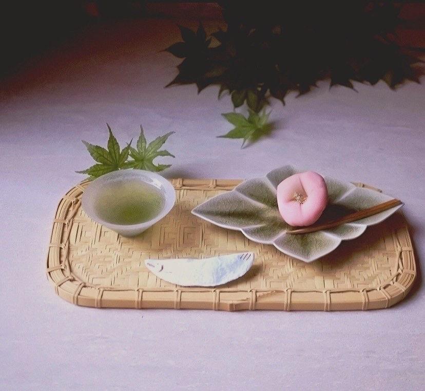 宮田 竜司/菱形皿 (小)灰釉