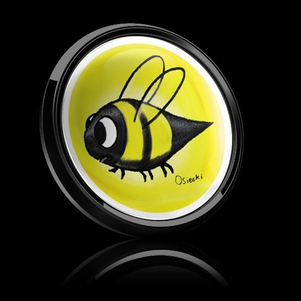 ゴーバッジ(ドーム)(CD0508 - SWIRL BEE) - 画像2