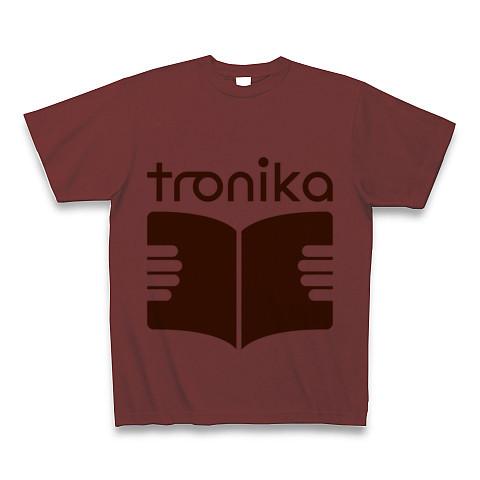 トロニカ ロゴ Tシャツ(バーガンディ) - 画像1