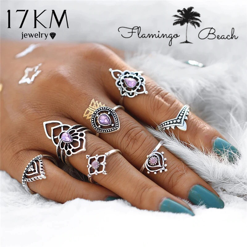 【FlamingoBeach】boho ring set