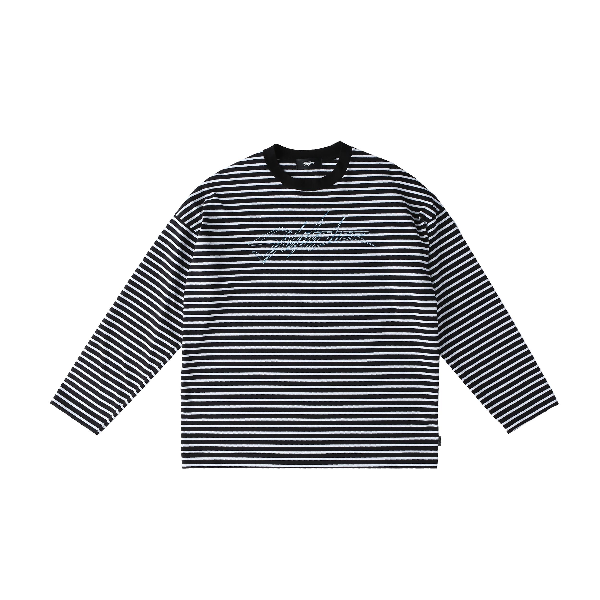 SNATCHER border T-shirt / BLACK - 画像1