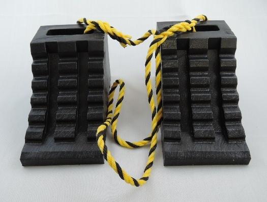 ハイプラ歯止め【D-1型 黒2個 ロープ付】