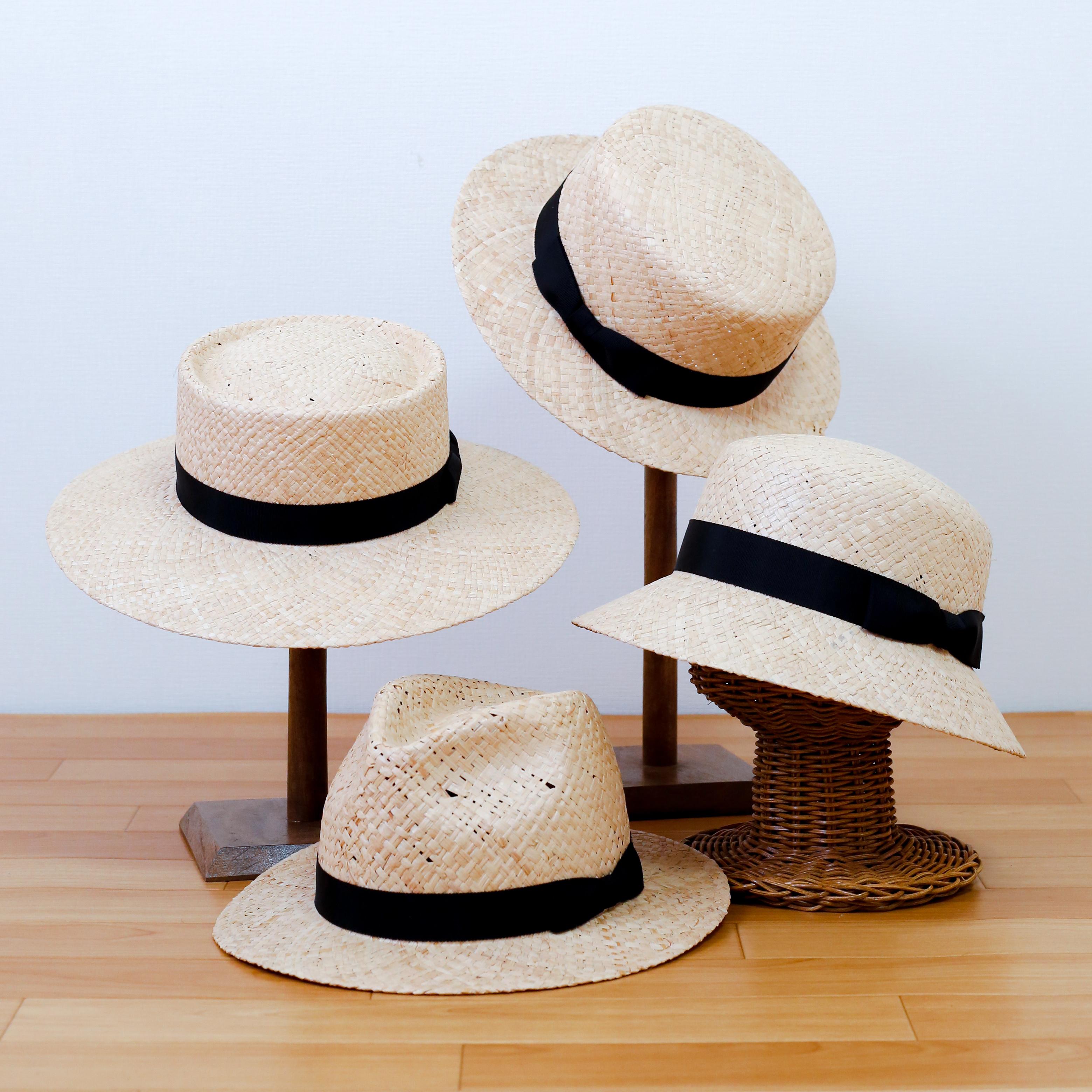 育てる帽子 天然ラフィア帽子 日本製(石目編)
