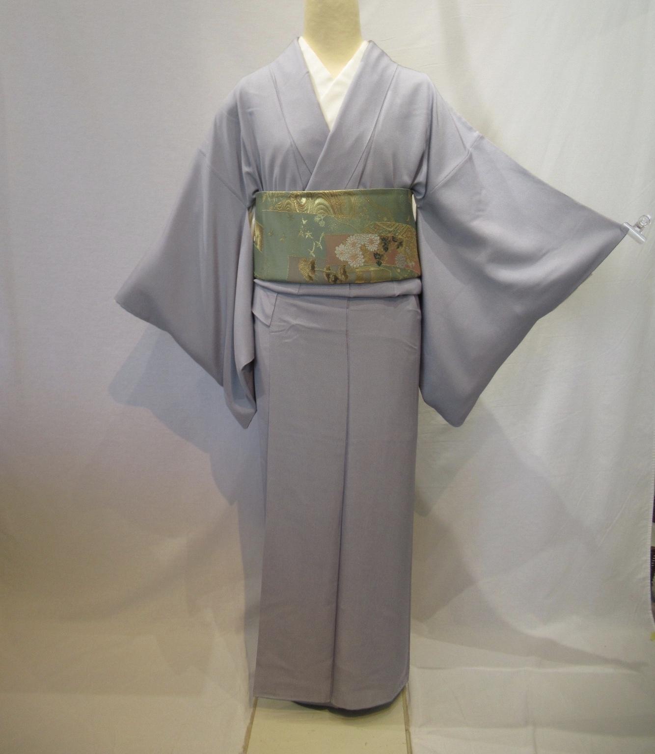 1972紋付き江戸小紋と西陣織袋帯セット