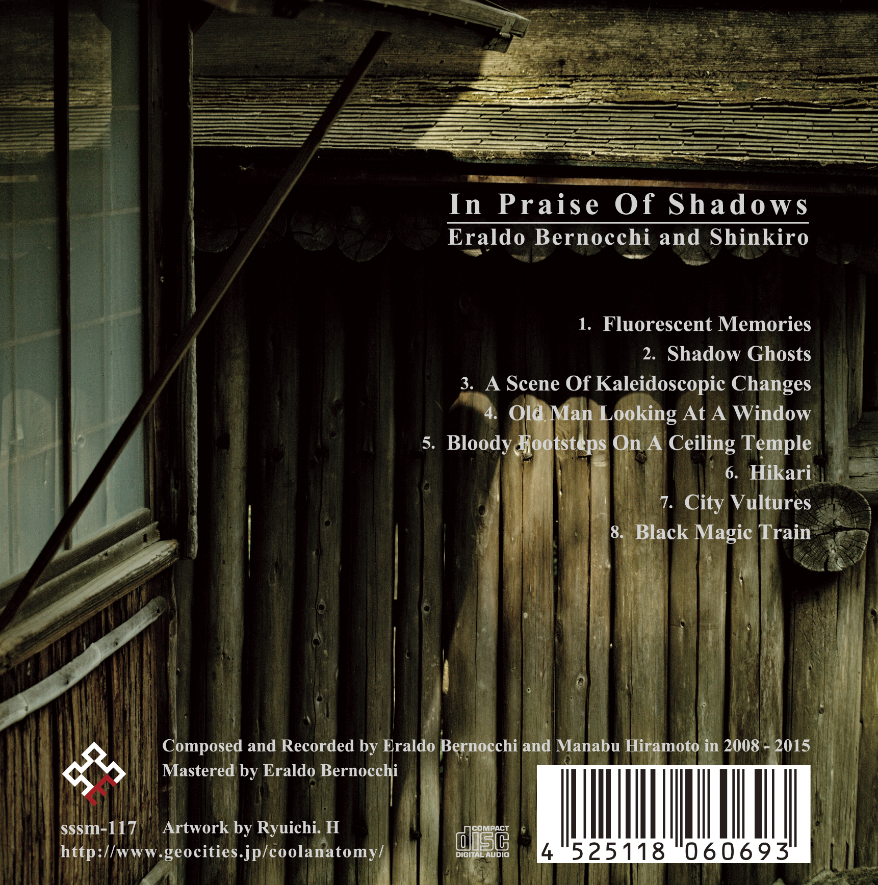 Eraldo Bernocchi and Shinkiro - In Praise Of Shadows  CD - 画像2