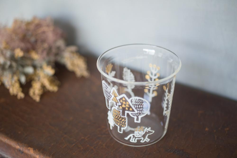 大家三佳 ガラスの器 「子馬と草摘み(グラス 250ml)」 【om_0013】