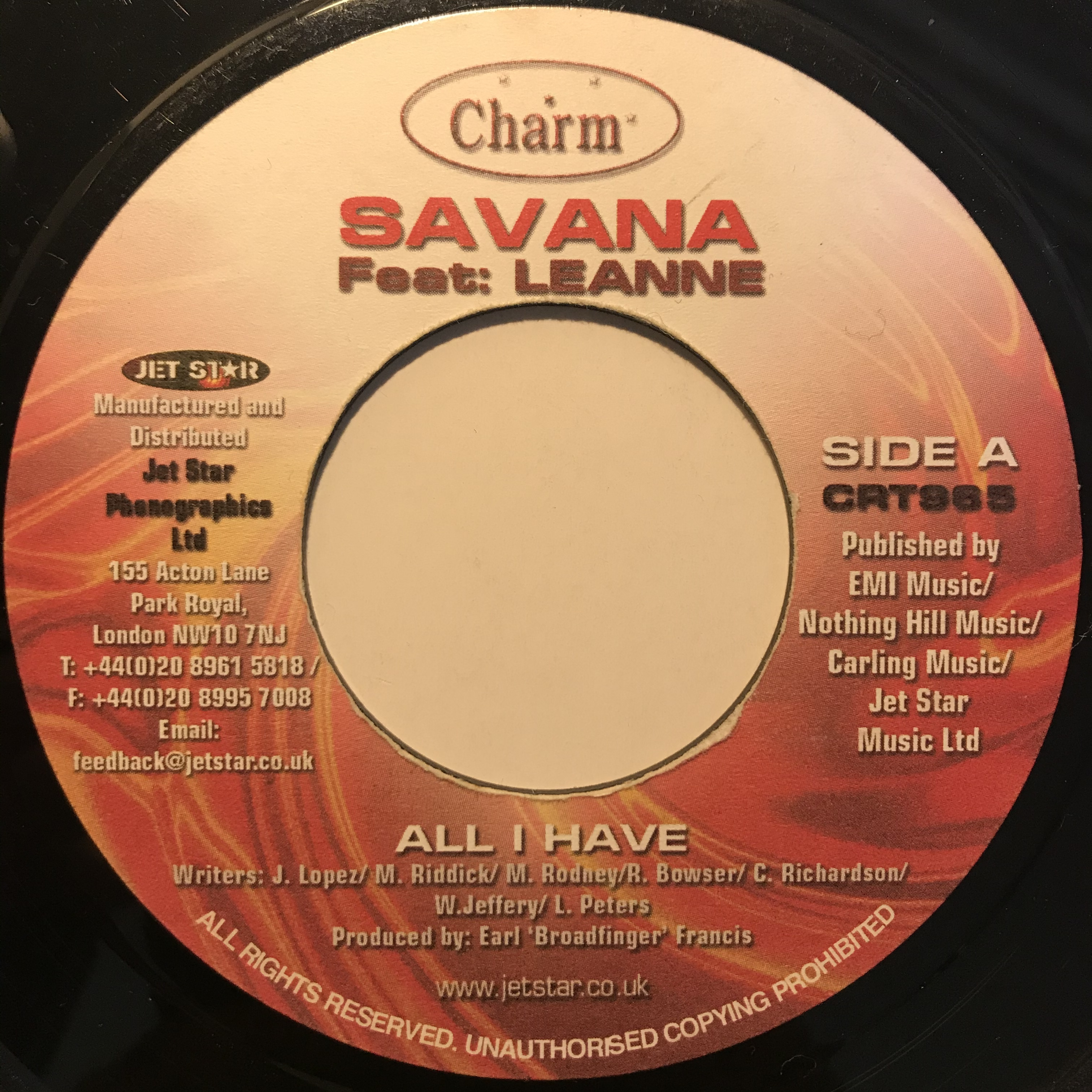 Savana feat. Leanne - All I Have【7-10821】
