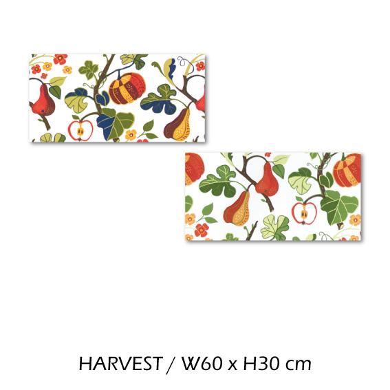 北欧生地 ファブリックパネル 横60 cm x 縦30 cm Kinnamark HARVEST 受注販売商品 (100315)